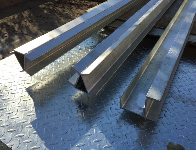 Galvanised Steel Retaining Post
